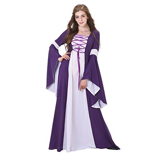 Womens Princess Dresses (COUCOU Age Square Neck Renaissance Medieval Dress Princess Gown Dress)