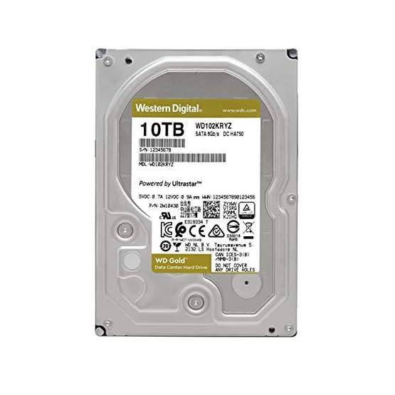 "WD Gold 10TB Enterprise Class Internal Hard Drive - 7200 RPM Class, SATA 6 Gb/s, 256 MB Cache, 3.5"" - WD102KRYZ 417h0dFqirL. SS555"