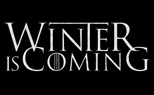 Winter Is Coming Game of Thrones Decal Vinyl Sticker|Cars Trucks Vans Walls Laptop| White |7.5 x 3 in|CCI1286