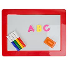 Drawing And Magnetic Letters Learning Board - Early Educational Kid's Toy - Erasable Colorful Writing Markers - For Home And Preschool - Assorted Colors