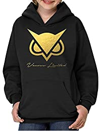 DhoomBros Youth Vanoss Owl Golden Hooded Sweatshirt Black