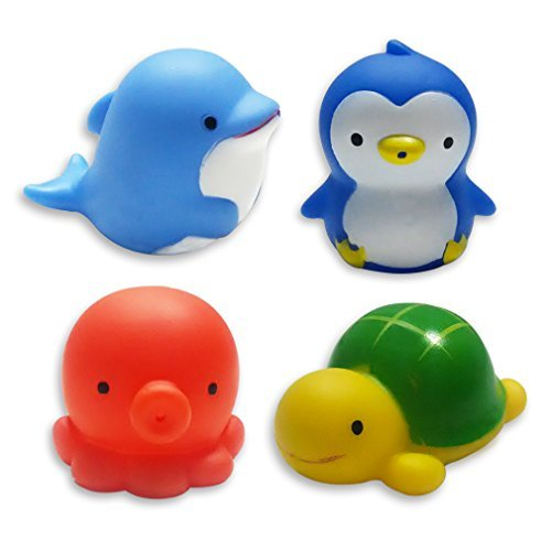 Clearance Sale-MICHLEY Baby Bath Toys Sea Animal Water Squirter Toy Environmental Protection Material Bathtub Toys - Set of (Clearance Baby)