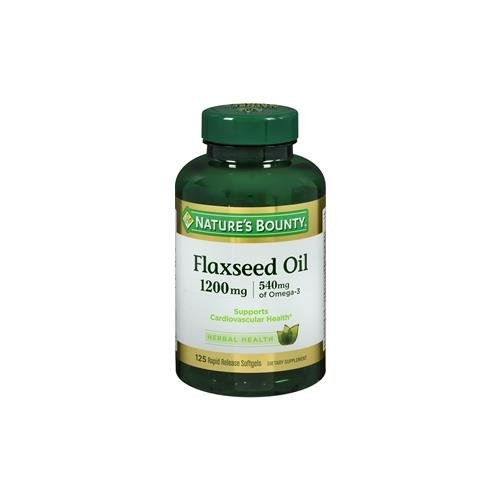 Natures Bounty Flaxseed 1200 Softgels product image