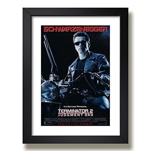 Quadro Decorativo Filme Exterminador Arnold Schwarzenegger Moldura Paspatur Pronto para Pendurar