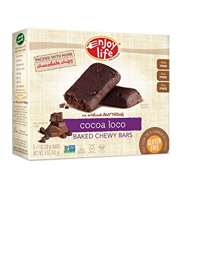 Enjoy Life Baked Chewy 1 Ounce Bars, Gluten Free, Dairy Free, Nut Free & Soy Free, Cocoa Loco, 5 Count (Pack of 6) (Peanut Free compare prices)
