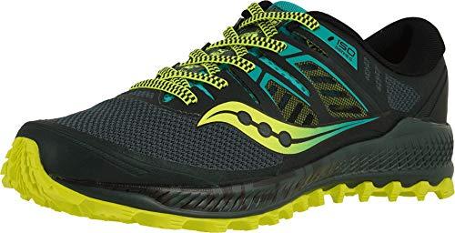 Saucony Men's Peregrine ISO Road Running Shoe, Green/Teal, 10 M US