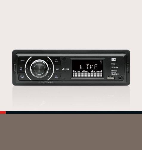 Autoradio mit USB und Card Reader (LCD-Display, SD und MMC, AUX-IN, Equilizer)