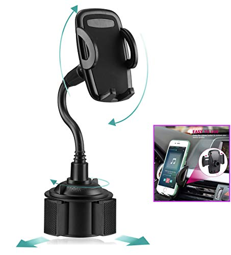 (MARRRCH Car Phone Mount,Air Vent Phone Holder,Handsfree Cell Phone Cup Phone Holder for Car Compatible with iPhone Xs/XS MAX/XR/X/8/8Plus/7/7Plus,GalaxyS8/S9/S10/S10e,Google Nexus,and More (Black))
