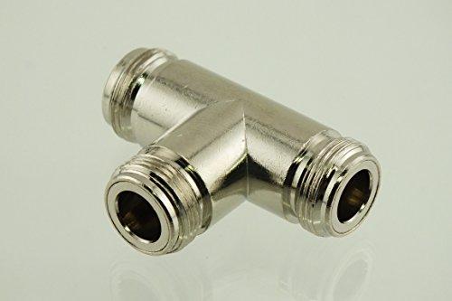 W5SWL Brand Premium Series Coax Adapter N Female Female Female 3-Way Tee - by W5SWL Brand by by W5SWL