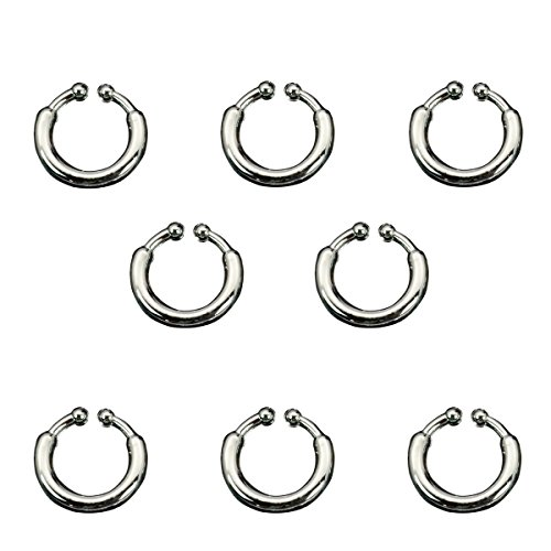 Rock The Ship Pirate Adult Costumes (Set of 8 Fake Non-Piercing Body Jewelry Kit)