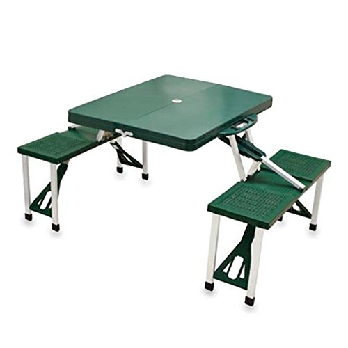 Picnic Time Green Folding Picnic Table by PICNIC TIME