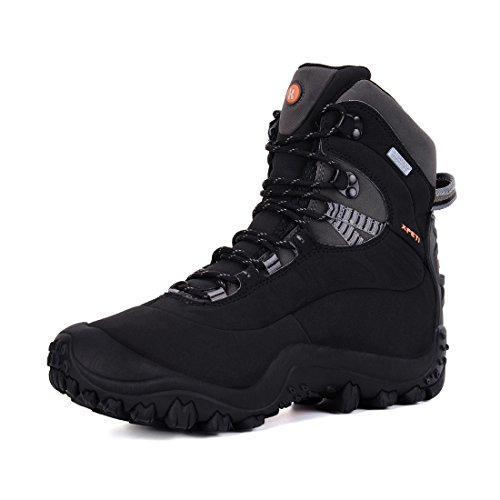 XPETI Men's Thermator Mid-Rise Waterproof Hiking Boot Trekking Insulated Outdoor Boots (10.5 D(M) US, Black) (Best Comfortable Hiking Boots)