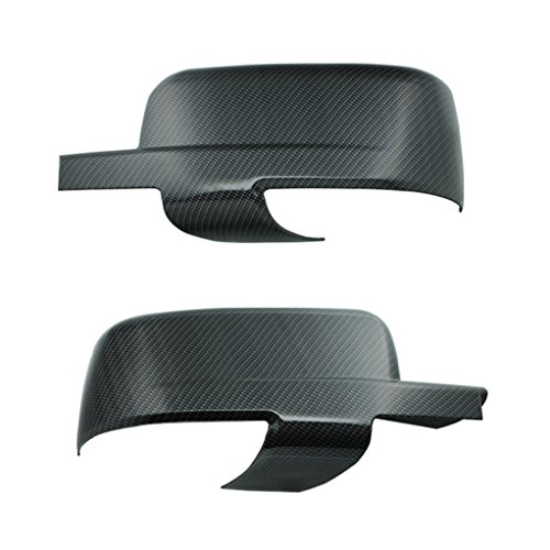 EAG 09-12 Dodge Ram Mirror Cover With Turn Signal Hole Black Carbon Fiber ()