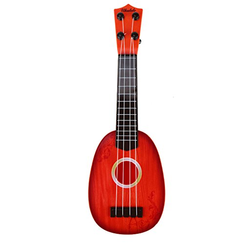 Giveme5 Ukulele Toy for Kids, Children Mini Musical Instrument Fun Educational Learn 4 String Guitar Ukulele Xylophone Toys with Gift Box Christmas Birthday Gift for 2-4 Years Old Kids (Red)