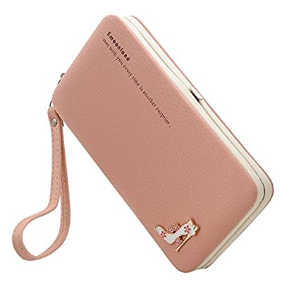 Smartphone Wristlet,Ladies Clutch Purse Wallet Mobile Phone Wristlet Wallet Large Capacity with Strap Wrist for iPhone X/8/8 Plus/7/7 Plus/6S/6S Plus/6/Samsung Galaxy S8/S7/S6 by Emoonland