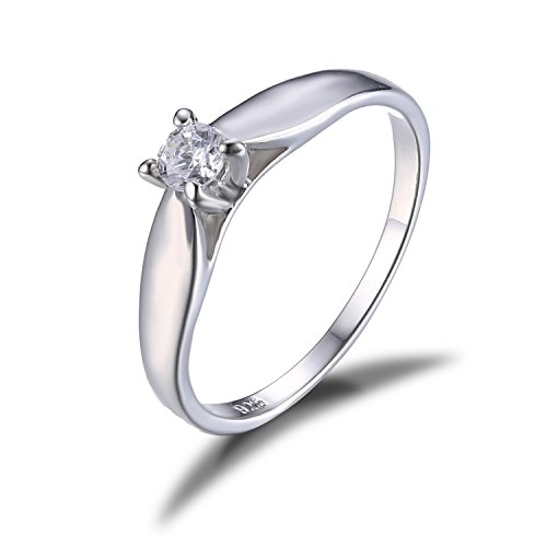 Jewelrypalace Womens Simple Cubic Zirconia 925 Sterling Silver Anniversary Ring Wedding Band