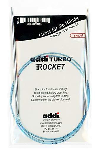 Addi Lace Turbo Circular Needles - addi Knitting Needle Circular Turbo Rocket Lace Skacel Exclusive Blue Cord 16 inch (40cm) Size US 06 (4.0mm)