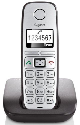 Gigaset E310 DECT-Großtasten-Schnurlostelefon (beleuchtetes Display, große Schrift, Freisprechfunktion) anthrazit