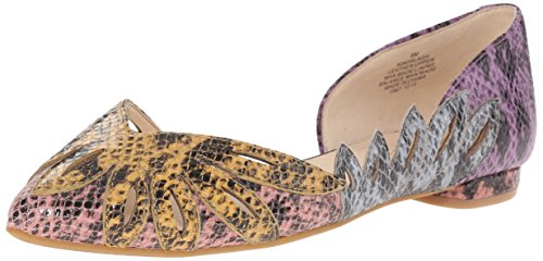 Nine West Womens Orlagh Reptile Ballet Flat Purple/Multi w4Tu0k