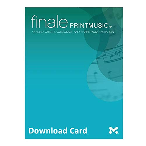 Finale PrintMusic 2014 for Windows (Download Card) - Music Notation Software
