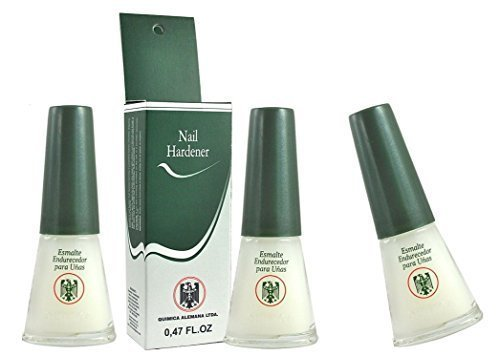 Price comparison product image QUIMICA ALEMANA Nail Hardener (protective barrier prevents chipping, peeling and splitting) - Size 0.47 Fl.oz (Pack of 3)