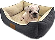 American Kennel Club Orthopedic Circle Stitch Cuddler Pet Bed, Gray