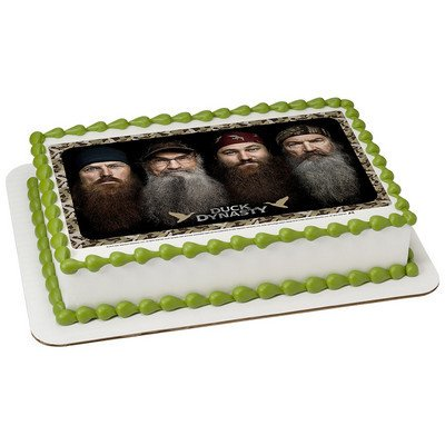 1/4 Sheet Duck Dynasty-Happy Happy Edible Image Cake Topper