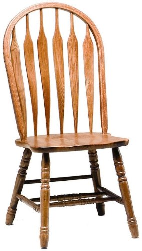 "417h79B5xEL - Dooley's 3125 Solid Oak Steambent Windsor Dining Chair, 18-1/2"" Length x 18"" Width x 41-1/4"" Height, Medium Finish"