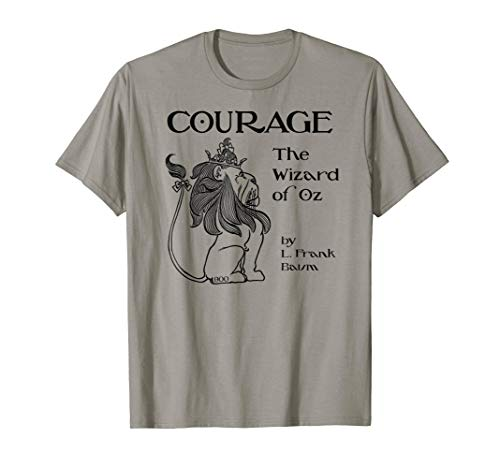 Retro Wonderful Wizard of OZ Cowardly Lion Shirt-Courage]()
