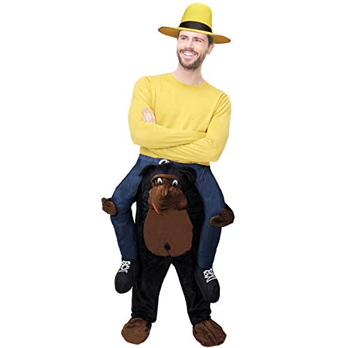 Tigerdoe Piggyback Costumes - Funny Costumes for Adults - Ride On Costume - Carry Me Costume - Riding Shoulder Costume (Monkey) -