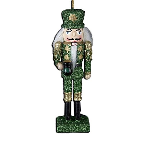 Kurt Adler Ornaments C9668 Wooden Irish Nutcracker Ornament ()