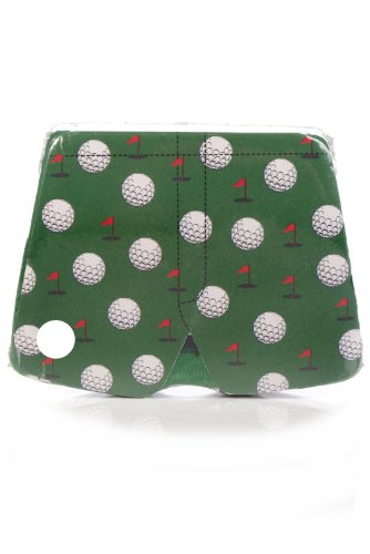 SockShop Men's 1 Pair Magic Boxer Shorts In Golf Pattern Large Green ()
