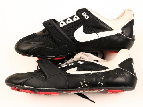 Jerry Rice 49ers Raiders HOF Signed Pair (2x) Nike Pro Shoes/Cleats COA JSA Certified Autographed NFL Cleats