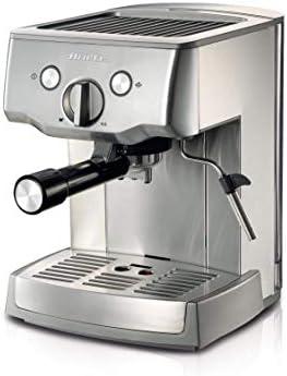 Ariete 1324 Macchina per caffè espresso in metallo, polvere e cialda ESE, Pompa 15 Bar, Cappuccinatore montalatte, Vano scalda, Filtro 1 e 2 tazze, 1000 W, 1.5 litri, Acciaio Inox