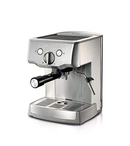 Ariete 1324 Cafetera espresso de metal para café molido y monodosis, 1.000 w, 15 bares, capacidad 1.5 l, bandeja goteo…