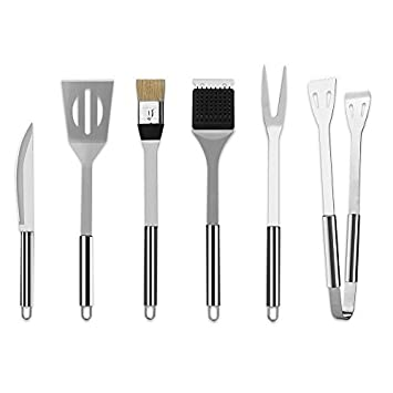 Earthfriendly 6-Piece Stainless Steel Grill Tools Set with Barbecue Accessories – Stainless Steel Utensils with Aluminum Case – Premium Outdoor Grilling Kit 6-14.56-2.75 6 Piece