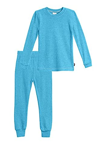 City Threads Little Girls Thermal Underwear Set Perfect for Sensitive Skin SPD Sensory Friendly, Turquoise- - Turquoise Girls Shirt