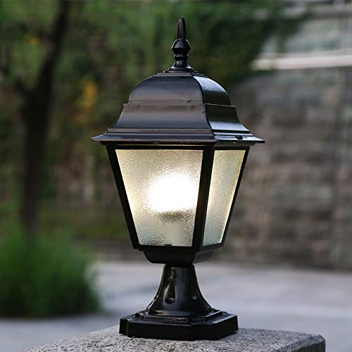 HDMY Outdoor Column Headlight Waterproof Outdoor Pillar Light Fence European Railing Courtyard Landscape Outdoor Lighting Fixture Street Community Patio Lamp