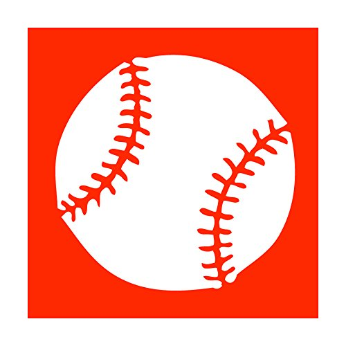 Auto Vynamics - STENCIL-BASEBALL-BALL - Detailed Baseball Individual Stencil from Baseball Silhouettes Stencil Set! - 10-by-10-inch Sheet - Single Design (Mlb Pen Kit)