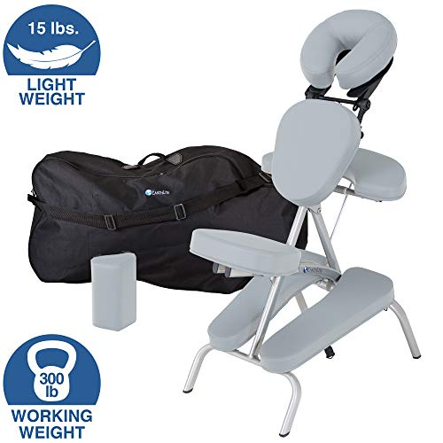 (EARTHLITE Portable Massage Chair Package Vortex - Portable, Compact, Strong and Lightweight incl. Carry Case, Sternum Pad & Strap (15lbs) )