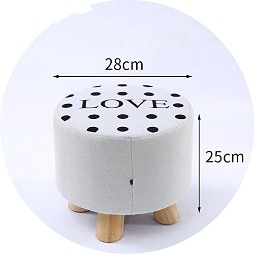 hubble-bubble Fabric Stool Fashion Household Living Room Small Mound Sofa Stool Wooden Small Chair Stool Bedroom Bench Furniture,K