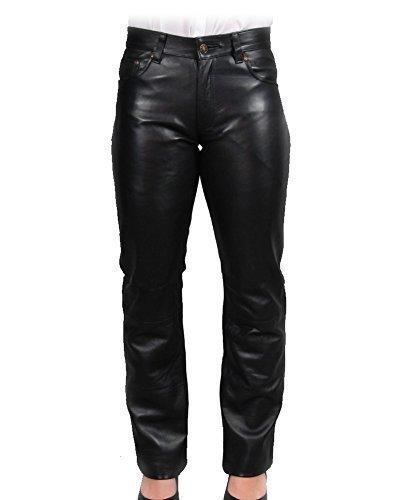 Black Lambskin Leather Pants - Trachtenhose Women's Lambskin Leather Pants 31W Black