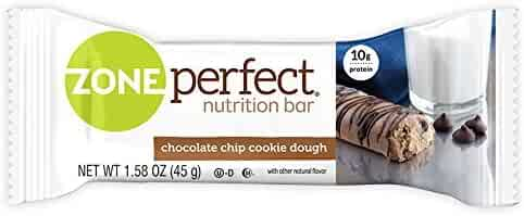 ZonePerfect Nutrition Snack Bars, High Protein Energy Bars, Chocolate Chip Cookie Dough, 1.76 Ounce Bar, 5 Count