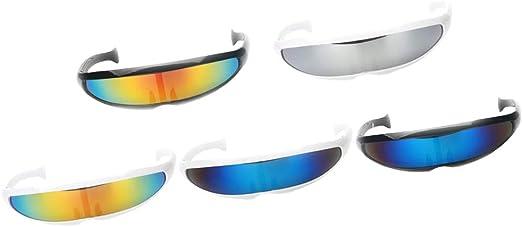IPOTCH 5X Gafas de Soldador Futurista Alien Robot Sunglass Cosplay ...