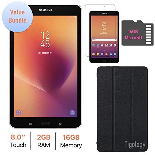 Samsung Galaxy Tab A 8.0-inch Touchscreen (1280 x 800) Wi-Fi Tablet, Quad-Core 1.4GHz Processor, 2GB RAM, 16GB Memory, Bluetooth, 16GB MicroSD, Tigology Case & Screen Protector, Android 7.1 OS (Galaxy Tab 7 3g)