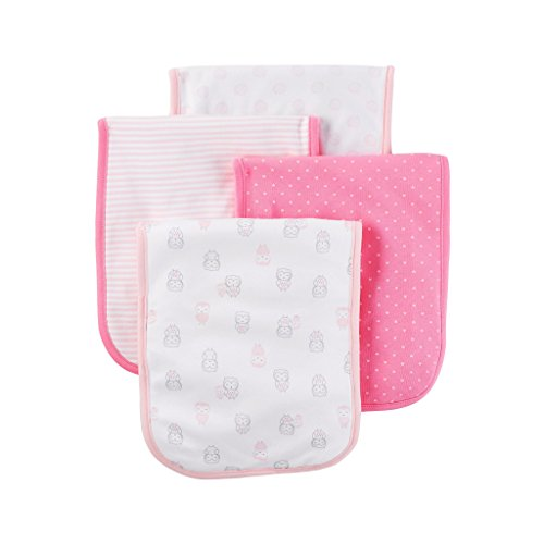 Carter's Just One You Baby Girls' 4 Pack Burp Cloth Set - Pink Owls