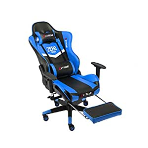 Sillas XUERUI Giratorio de 360 Grados E-Sports Game Racing Seat Back Lounge ergonómica Reclinable Asiento Elevación giratoria Reposapiés Durable (Color ...