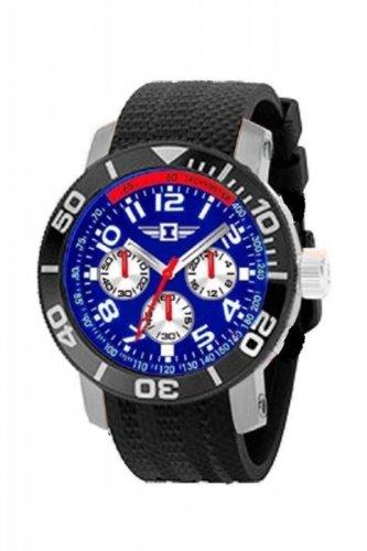 Invicta Men's 3 Subdials Day Date Seconds Sharp Blue Face St