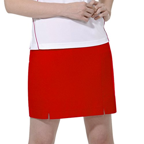 - Monterey Club Ladies Dry Swing Notched Detail Honeycomb Texture Pull on Knit Skort #2855 (Venetian Red, Medium)