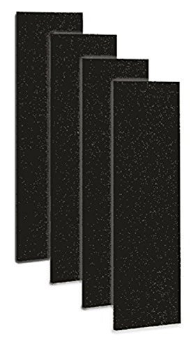 Carbon Activated Pre-Filter for use with the germguardian FLT5000/FLT5111 HEPA Filter, for AC5000 Series Air Purifiers, Filter C, Pack of 4 (Charcoal Series Filter)